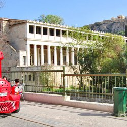 Athens Happy Train at Stoa of Attalos and Acropolis