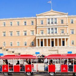 Athens Happy Train at Hellenic Parliament
